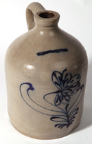 BLUE DECORATED STONEWARE JUG