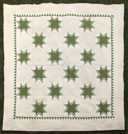 EARLY PIECED EIGHT POINT STAR QUILT