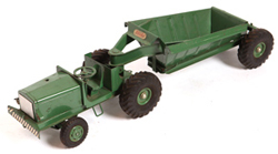 C.W. DOEPKE TOY ROAD TRACTOR & GRAVEL WAGON