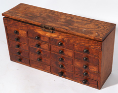 WATCHMAKERS OAK SET OF DRAWERS