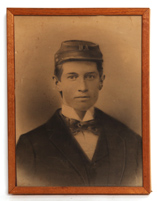 CHARCOAL PHOTO OF CIVIL WAR SOLDIER