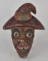 Folk Art Carved & Painted Mask