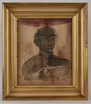Painting of Civil War African American Soldier