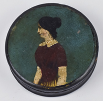 Folk Art Painted Snuff Box