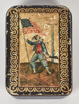 Fine Papier Mache Civil War Snuff Box