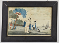 Folk Art Painting Landing of Columbus