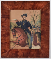 19th Century Watercolor of Civil War Soldier