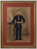 Gouache Painting of Military Officer