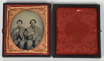 Civil War Ambrotype of Two Union Soldiers