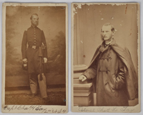 Two CDV Uniformed Portraits of Capt. Charles H. Tay