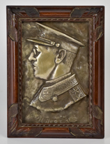 WWI Silver Over Bronze Plaque