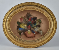 Victorian Feather Basket