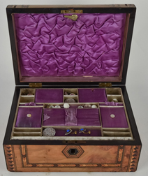 Fine Inlaid Sewing Box