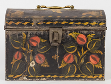 Early Tole Decorated Document Box