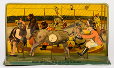 F. Strauss Donkey Shooting Tin Lithographed Game