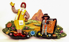 Large 1970's McDonalds Wall Store Display