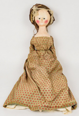 Wood Queen Anne Period Doll