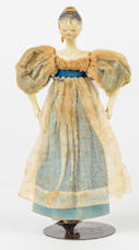Rare Queen Anne Wood & Gesso Doll