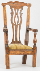 Period Chippendale Doll Armchair