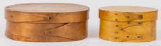 Two Shaker Bentwood Lidded Storage Boxes