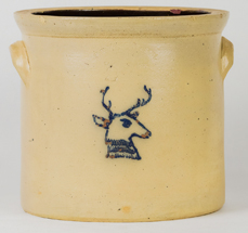 F.T. Wright & Son Decorated Stoneware Jar