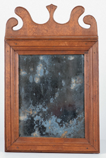 Period American Country Queen Anne Mirror