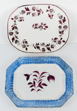 Two Early Staffordshire Platters