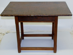 18th Century tavern table w/ old red wash