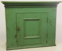 Hanging cupboard w/ green paint