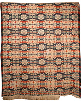 SIGNED 3 COLOR JACQUARD COVERLET