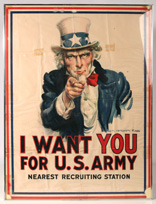 WWI UNCLE SAM I WANT YOU POSTER
