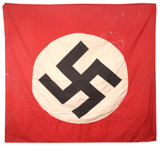 CAPTURED NAZI'S FLAG W/PAPERS