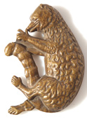 RARE HENRY CLAY FIGURAL BRASS CAP BADGE