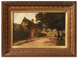 SIGNED C. STANLEY 19TH CENTURY OIL PAINTING