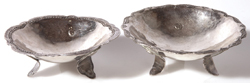 PR. SILVER FOOTED SAUCE DISHES