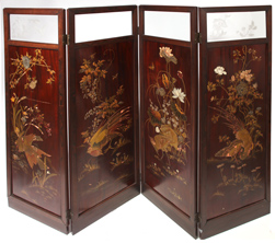OUTSTANDING JAPANESE ROSEWOOD SCREEN