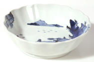 CHINESE BLUE PAINTED PORCELAIN BOWL
