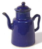 EARLY CHINESE BLUE GLAZED TEAPOT