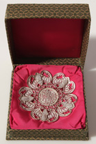 CHINESE SILVER FILIGREE SALVER