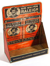 Sir Walter Raleigh Counter Top Tin Tobacco Display