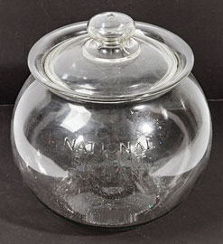 National Biscuits Co. Glass Display Jar