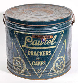 Laurel Brand Crackers & Cakes Tin