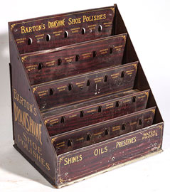 Barton's Dyanshine Shoe Polishes Tin Display Case