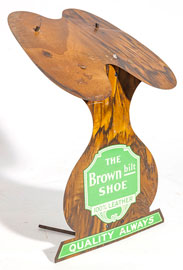 Brown Bilt Shoe Display