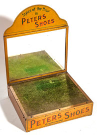 Peters Shoes Mirrored Tin Counter Display