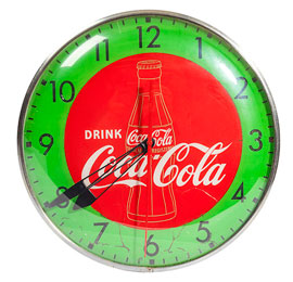 Coca-Cola Reverse Painted Wall Clock