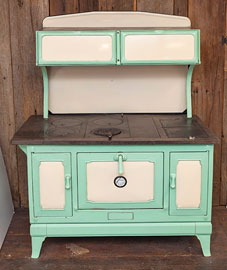 Enameled Cast  Iron & Steel Cook Stove