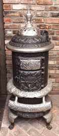 Beckwith Round Oak Cast Iron Heating Stove