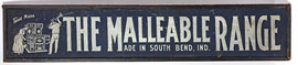 The Malleable Range Wooden Stove Sign