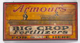 Armour's Fertilizer Painted Wooden Sign